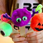 Monster Halloween Bookmarks Craft!