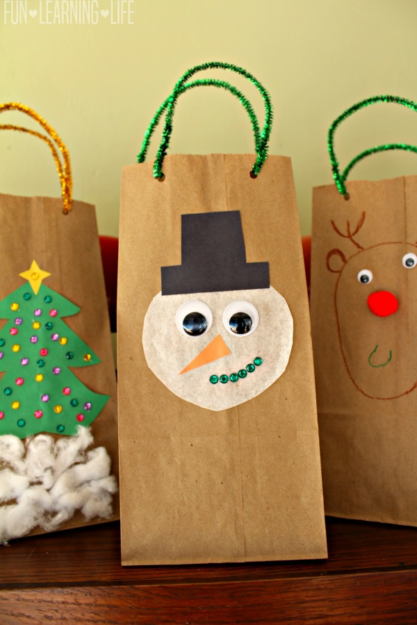 Homemade holiday gift bags craft fun learning life
