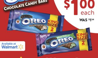 OREO Chocolate King Size Candy Bars are NOW on Rollback at Walmart for a $1! {Giveaway}