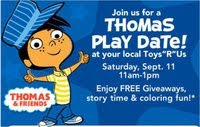 Thomas the Train Play date at Toys R Us Saturday