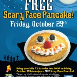 Free Scary Face Pancake Today at IHOP