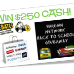 Ebates $250 Back to School Giveaway!