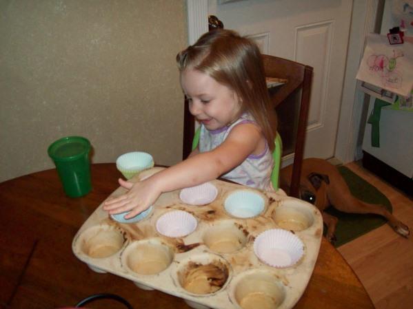Making Chocolate Chip Banana Muffins