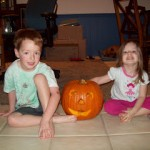 Look What We Did at 6am! Free Style Pumpkin Carving!