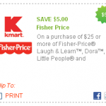 $5 off Fisher Price Coupon at KMart!