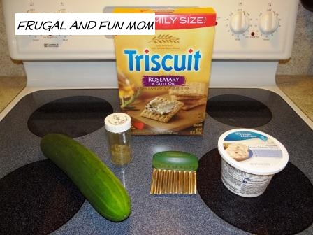 Cucumber and Triscuits