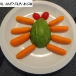 A Spider Made with Carrots, a Cherry Tomato, and an Avocado! A Healthy Fun Snack or Lunch For Kids!