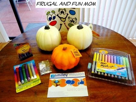 We Decorated Foam Pumpkins With the Help of BIC Mark-It Permanent Markers!