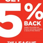 "Join Sports Authority ""The League"" and Earn Points To Receive Cash Back Towards Purchases! Get $5 off No Minimum Purchase Reward After Sign-Up!"