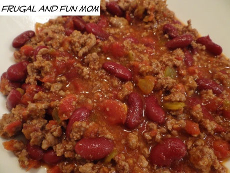 6 Ingredient Chili With Del Monte Petite Cut Diced Tomatoes with Green Chilies! #Recipe