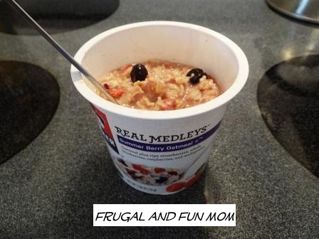 Quaker Real Medleys Summer Berry Oatmeal