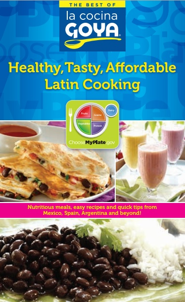 "Goya ""MyPlate"" Cookbook With Healthy and Affordable Latin Recipes! Free Download! Check Out the Quinoa Salad I Made!"