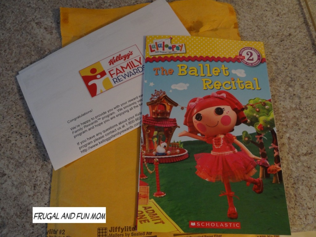 Book from Kellogg's Family Rewards