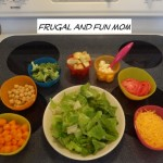 Kid Size Salad Bar Activity! Great Way To Get Them To Eat Vegetables and It Is FUN!