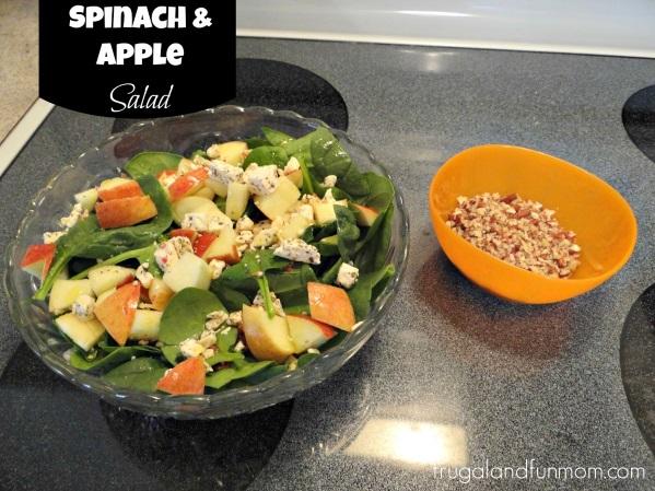 Spinach Apple Salad pecans