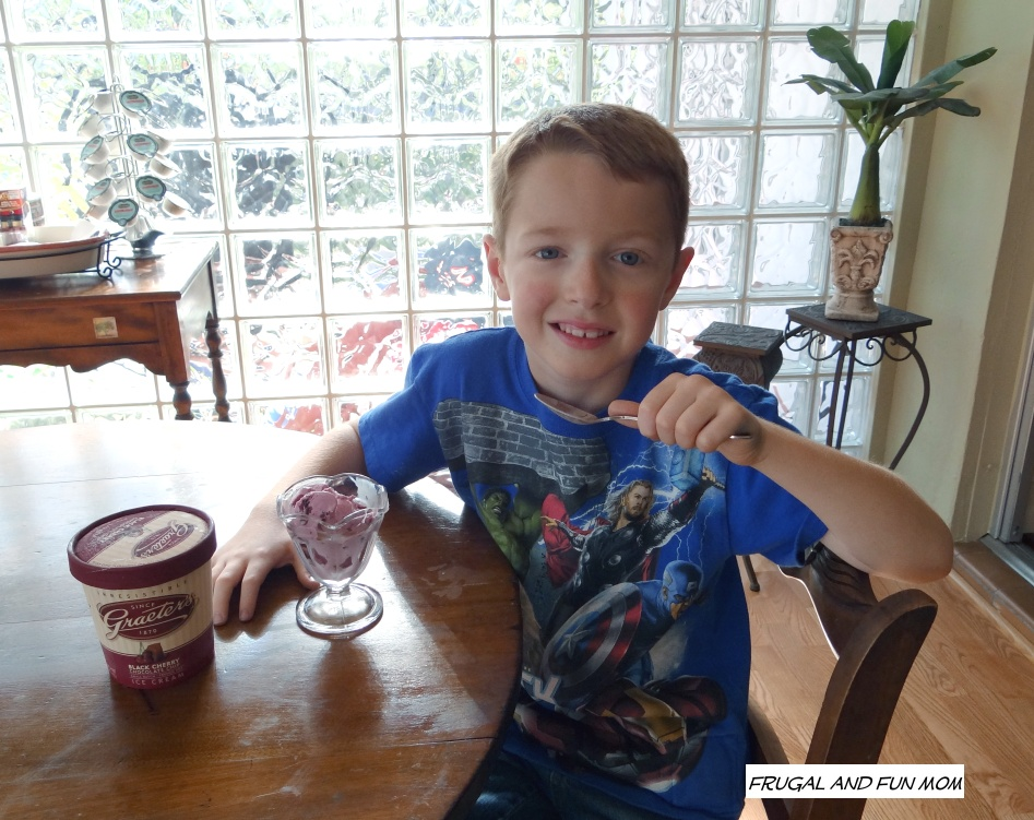 Child tasting Graeters Ice Cream