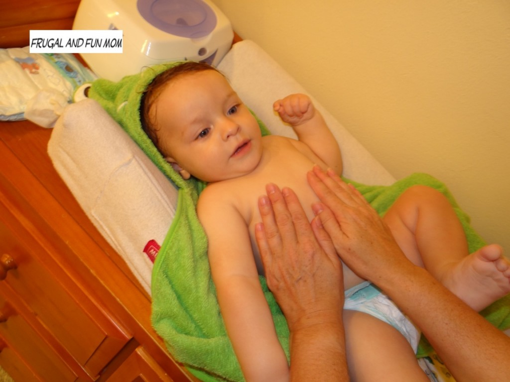 Seventh Generation Natural Baby Product being used