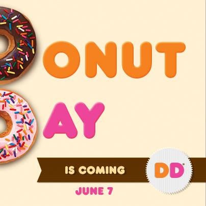 Dunkin Donuts Free Donut Day with purchase