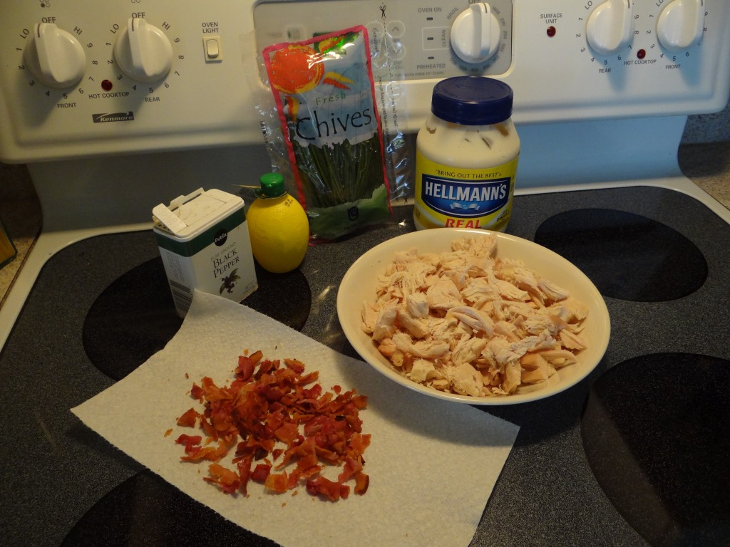 Bacon Chicken Salad Sandwiches Ingredients