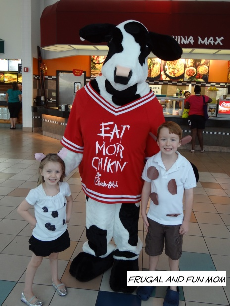 free chick fil a day dress like a cow