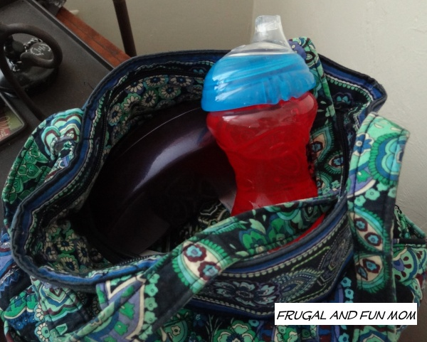 Nuby Clik It Sippy No Spill in purse
