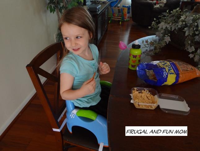 Preschooler in Nuby Booster Seat