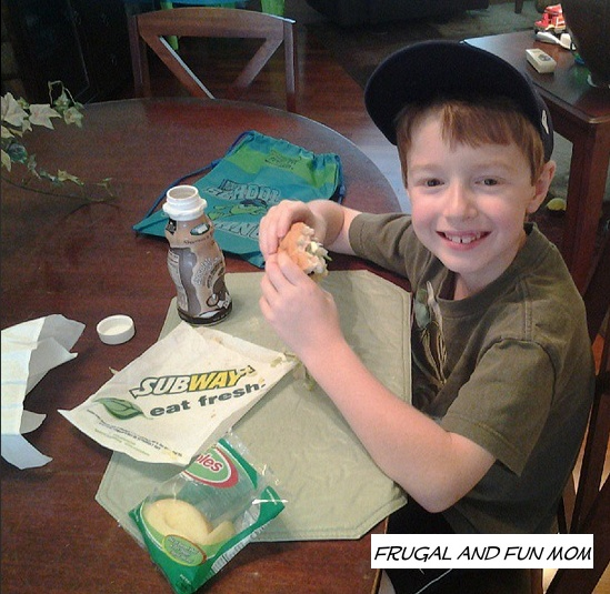 Kids meals at Subway Disney