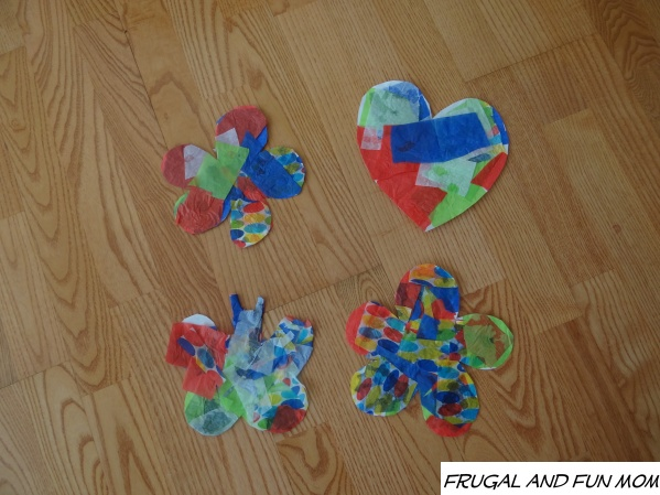 tissue paper crafts ideas tissue paper mosaic upcycling craft easy child s activity 5588
