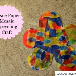 Tissue Paper Mosaic Upcycling Craft! Easy Child's Activity Using Everyday Household Items!
