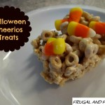 Cheerios Marshmallow Treat Dressed Up for Halloween! Fun and Easy Recipe!