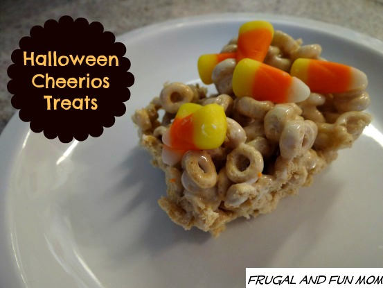 Up close Cheerios Halloween Treats