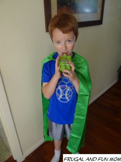 super kid with gogo squeez