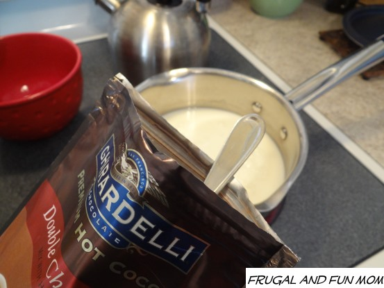 Making ghirardelli Hot Cocoa