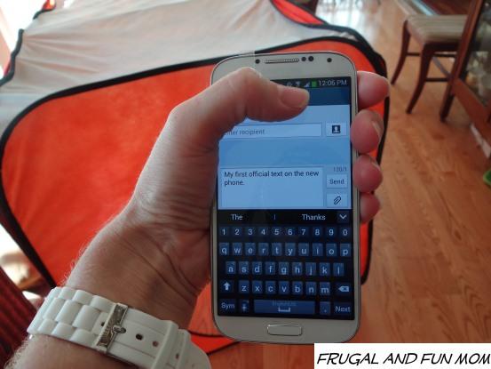 Samsung Galaxy S4 Text
