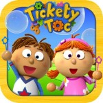 Tickety Toc Bubble Time Kid's Application Review!  Includes Story Time, Coloring, and Matching Game!