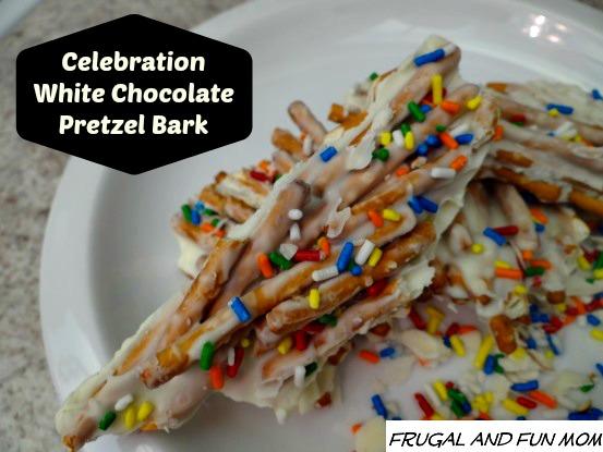 White Chocolate Celebration Pretzel Bark