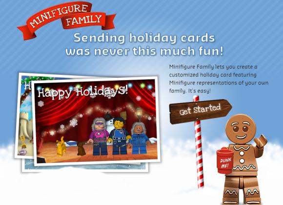 FREE Minifigure Family LEGO Ecard