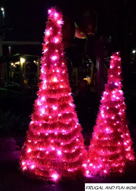 Lighted Trees Christmas Town Busch Gardens
