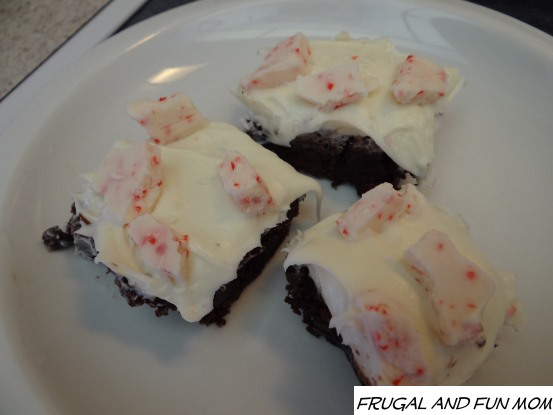 Peppermint Bark Bar RM Palmer on Brownies