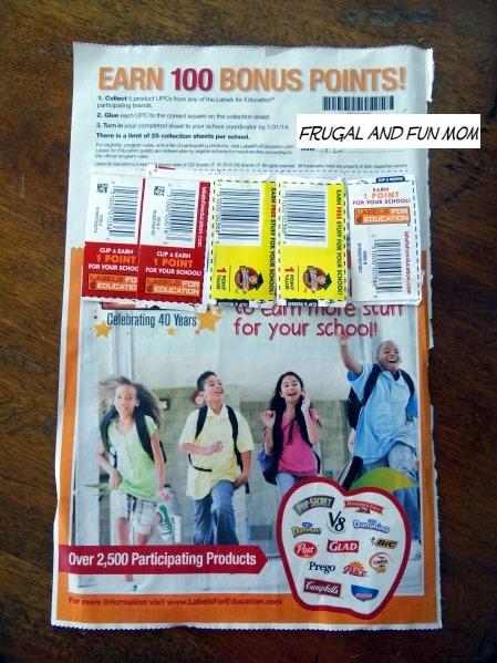 Bonus Points promotion Labels for Education