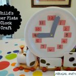 Child's Paper Plate Clock! Easy Craft To Teach Time!