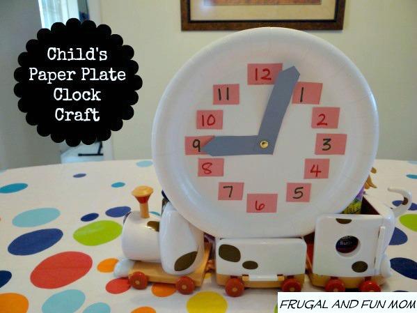 Paper Plate Clock