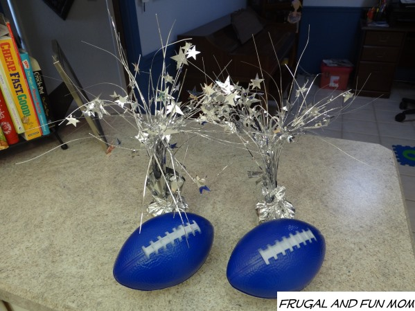 EASY DIY Football Party Centerpiece from the Dollar Store