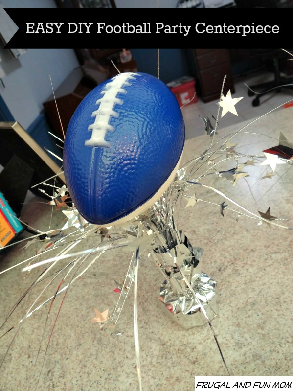 EASY DIY Football Party Centerpiece