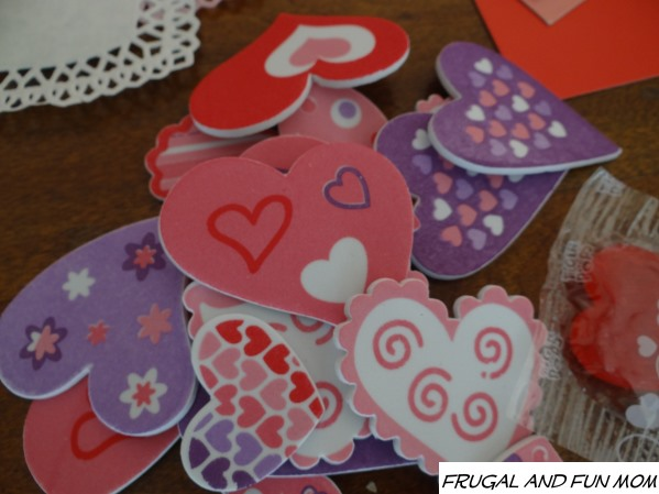 Foam Heart Stickers from  Oriental Trading