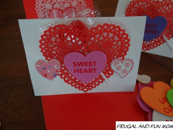 Foam Heart Stickers on Valentine's Day Card  Oriental Trading