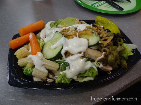 Salad at Chuck E Cheese