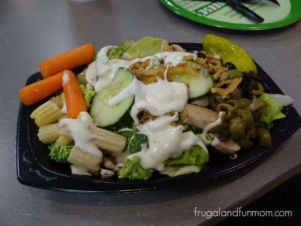Salad at Chuck E Cheese