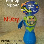 Nuby GATOR GRIP Pop-up Sipper Review {Giveaway}! Perfect for the Active Life and Child!
