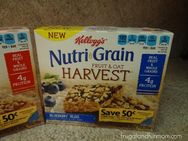 Nutri-Grain Fruit and Oat Harvest Blueberry